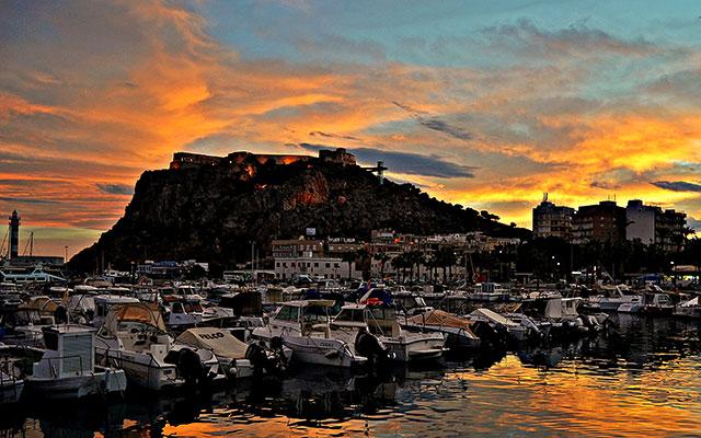 Solnedgång vid Aguilas Marina under Longstay Spanien | Sunbirdie
