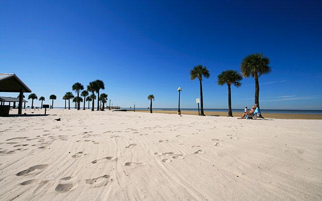 Nyt stranden under Longstay Florida med Sunbirdie