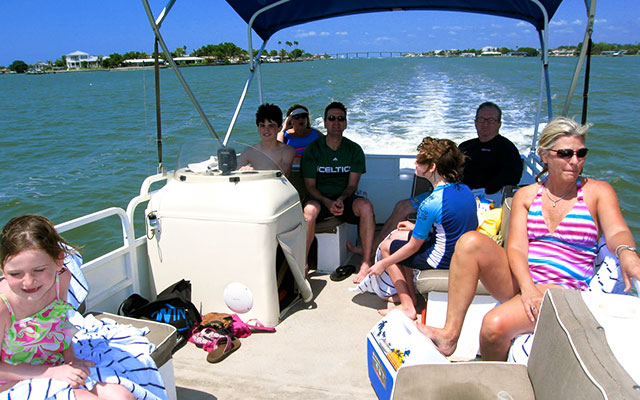 Nyt båttur under Longstay Florida med Sunbirdie