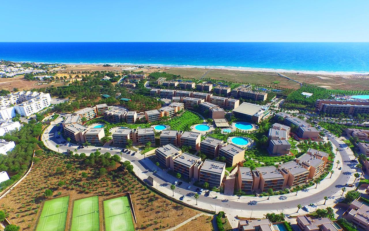 Vakker utsikt mens golfreiser Portugals Salgados Vila das Lagoas Apartments