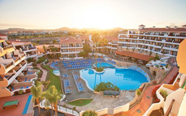 Basseng og solnedgang utsikt Golfreiser Spania med Sunbirdie